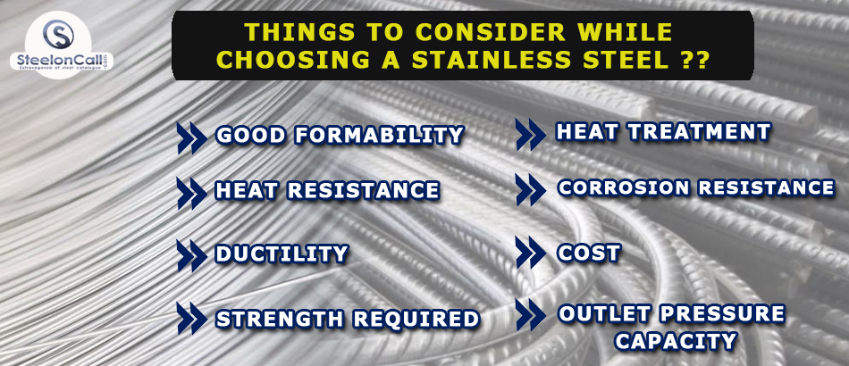 Things to consider while choosing a stainless Steel